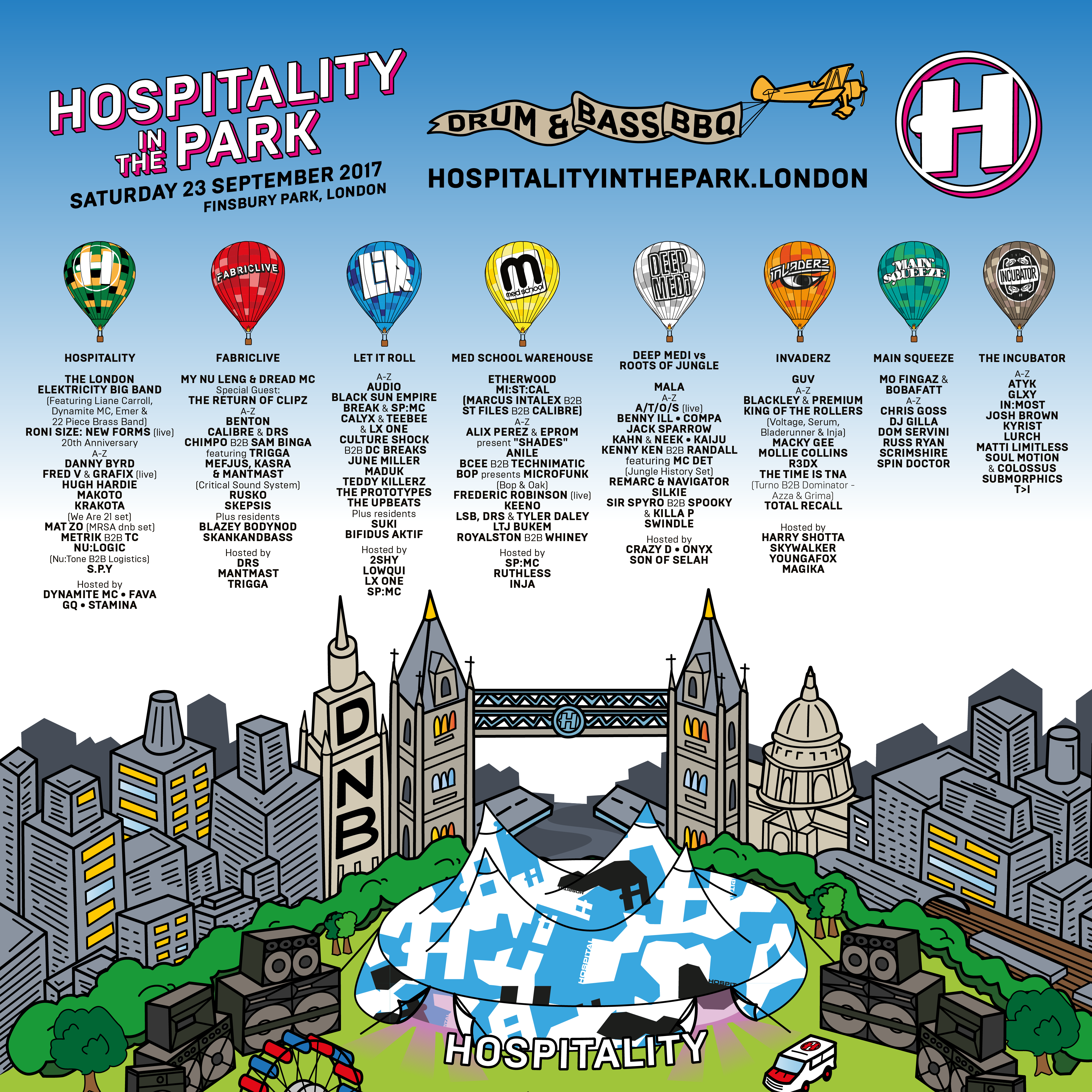 Hospitality In The Park 2017 Tickets | Finsbury Park, London